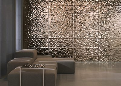 Bronze Metal Wall Cladding Design.