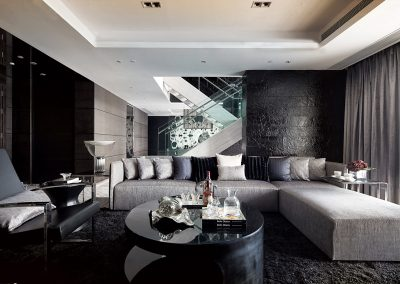 Glamorous Modern Living Space Using Simple Design Ideas.