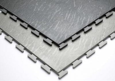 Close Up Of PVC Click Floor Tiles.