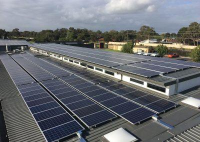 Commercial Roof Solar Installation.