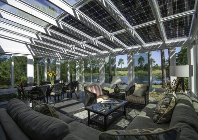Conservatory Under Solar Gives You Sun & Shade All In One.