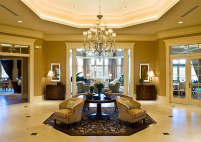 Distinctive Lobby Design.