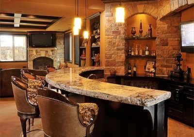 Feature Timber & Granite Bar Project.