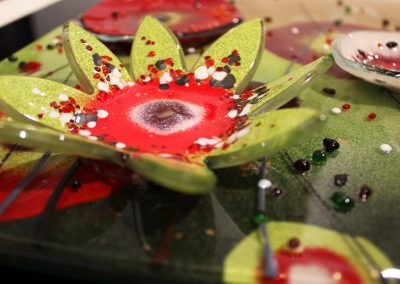 Flower Art Glass Design Close Up 3.