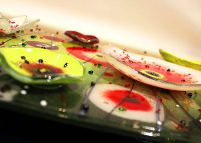 Flower Art Glass Design Close Up.