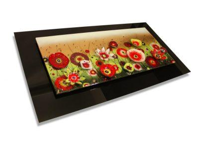 Flower Art Glass Design.