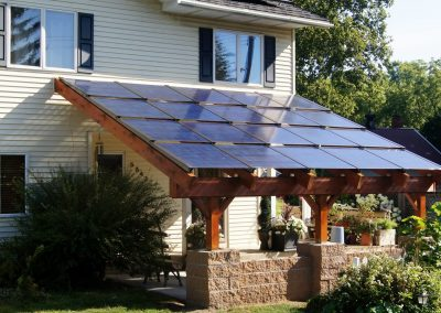 Front Entrance Solar Canopy.