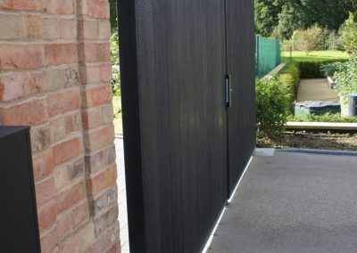 Gate Design in Shou Sugi Ban Timber Black.