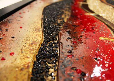 Glass Art Desert Design Close Up.