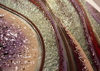 Glass Art & Finishes With Texture & Colour Close Up Image.