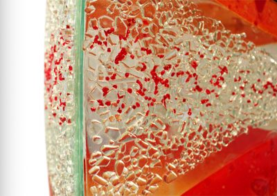 Glass Light Tower In Beluga Red Caviar Close Up Image.