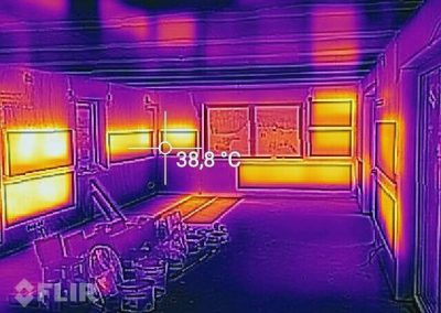 Thermal Image Proof Of Working BIPS Heating System.