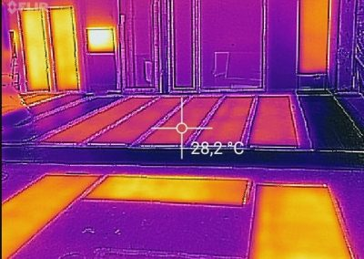 Thermal Image Temperature Proof of Working Heating System