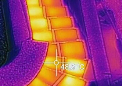 Thermal Image Proof Of Working BIPS Anti Frost System On Outdoor Stairs.