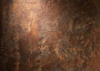 Rust Iron Textured Plaster.