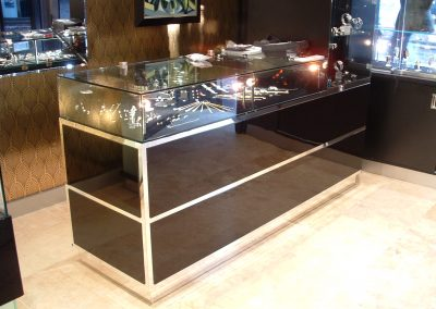 Luxury Jewellery Store Glazed Counter Display.