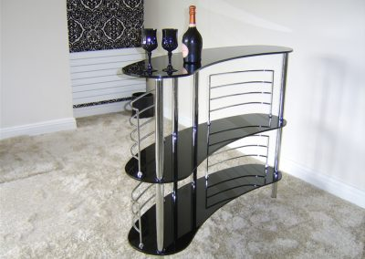Mini Black Glass Bar Design.