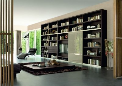 Modern Home library In Dark Timber Of Choice.