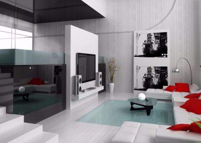 Modern Living Space Design.