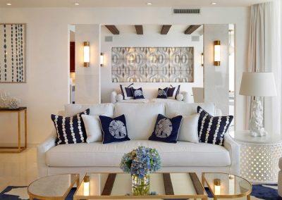 Nautical Blue & White Living Room.