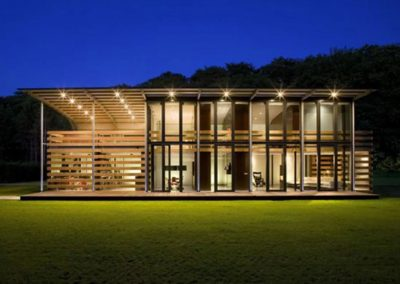 Passive Home At Night.