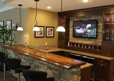 Rec Room Bar Design.