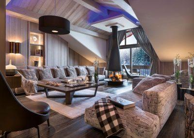 Ski Chalet Lounge Design.