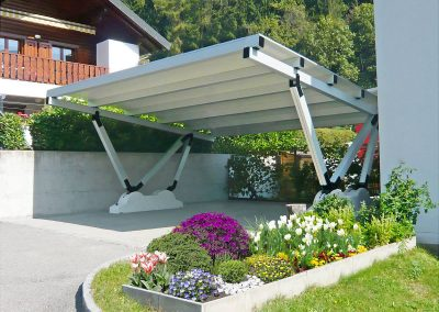 Stanchion Car Port Solution.