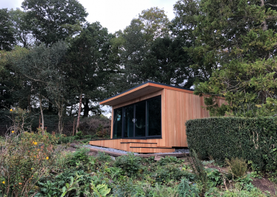 Stepped Timber Garden Room.