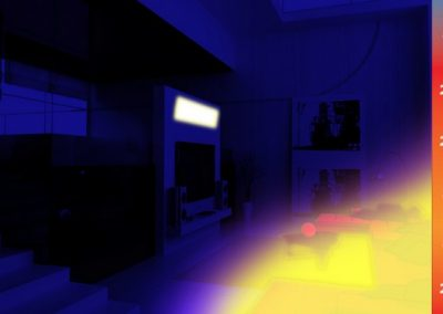 Thermal Image Proof Of Infrared Heat Directly To The Areas Of Use & Need.