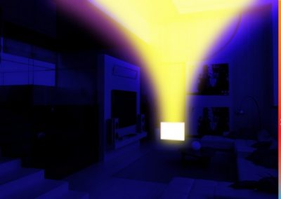 Thermal Image Proof That Convection Heat From Gas Or Standard Electricity Rises leaving cold spots In the Room or Allowing Escape Of Heat.