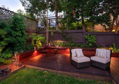 Urban Garden Decking & Lighting Design Example.