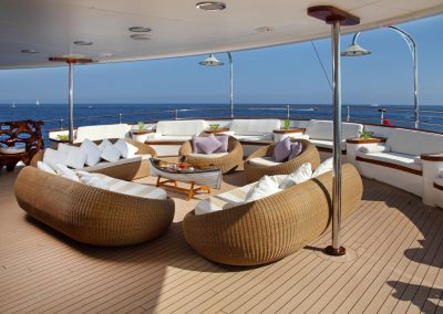 Comfy Lounging On Deck.