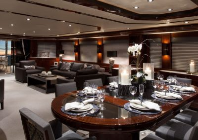 Dining Yacht Salon Design.