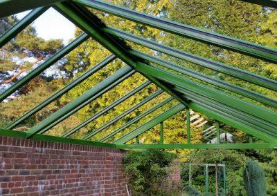 Underside Of Garden Wall Canopy.