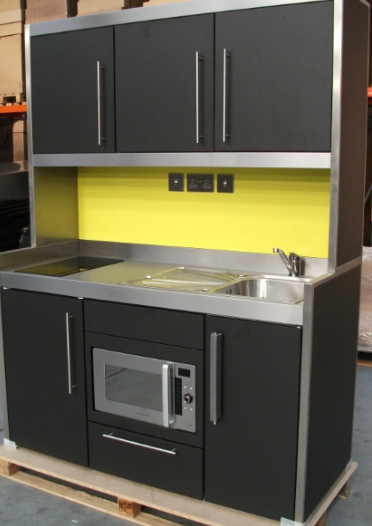 Anthracite Steel Framed Kitchen.