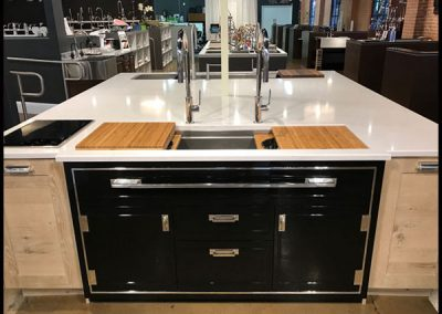 Black Credenza Kitchen Design