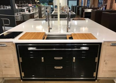 Black Credenza Kitchen In Island Design.
