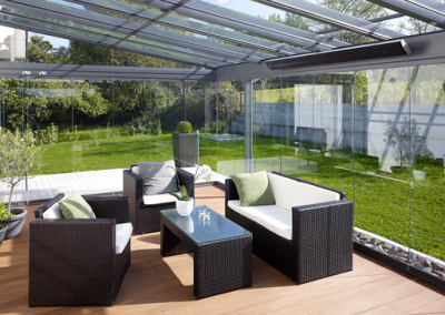 Conservatory Installation With Infrared Heating.