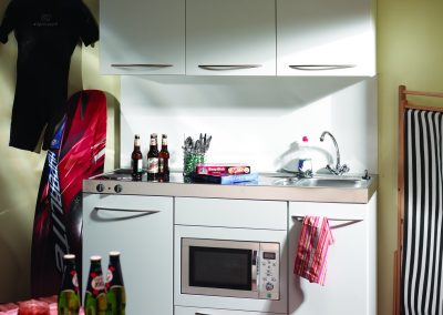 Holiday Apartment Micro Kitchen.