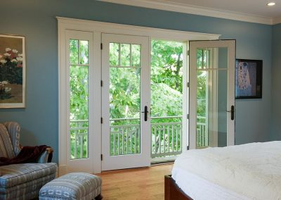 Master Bedroom Steel In White Juliet Balcony.