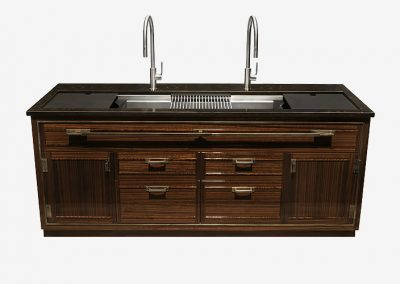 Walnut Credenza Kitchen Design.
