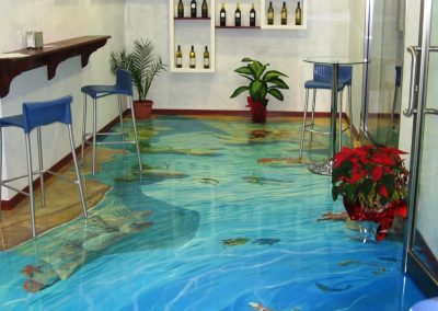 3D Resin Tropical Pool Flooring.