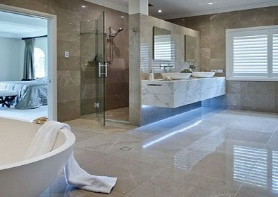 Bathroom Marble Flooring.