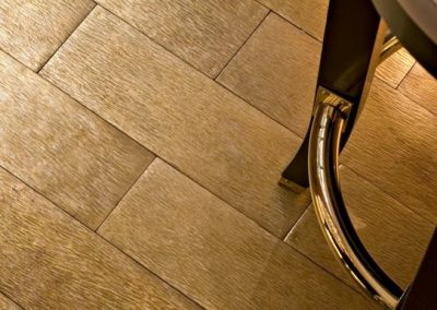 Brass Briquette Flooring Design.