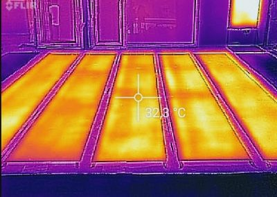 Thermal Image Proof Of Residential Heating Project.