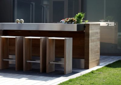 Outdoor Kitchen Timber & Steel Design.