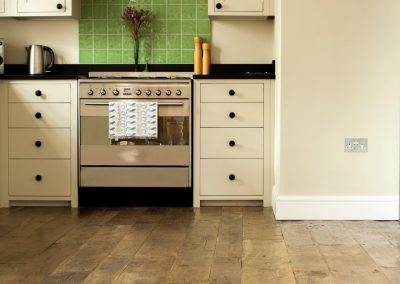 Reclaimed Oak Kitchen Flooring.