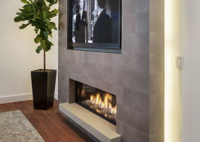 Bio Fire place & Stone Chimney Cladding.