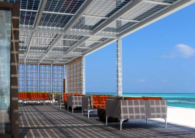 Solar Canopy Beach Project.